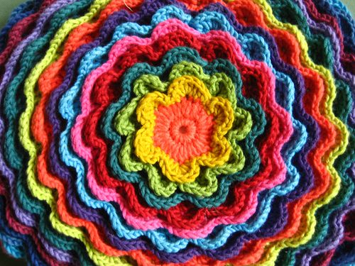 Crochet Stitches Uk : The colours she uses are bright and cheerful, but of course you could ...