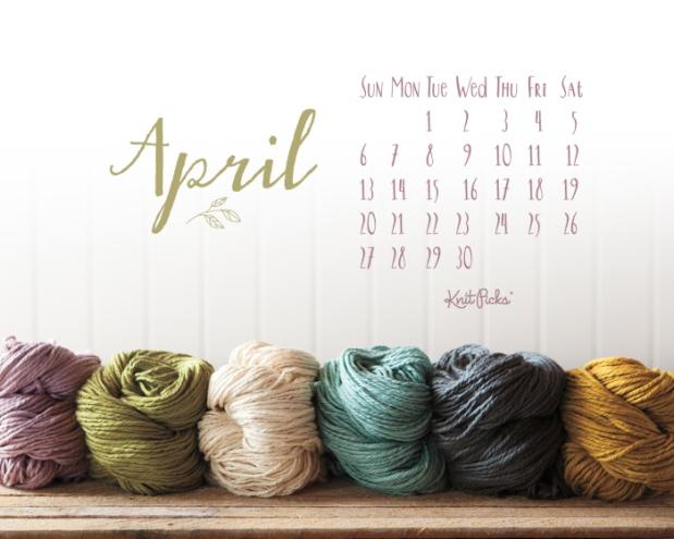 April 2014 Background by Knit Picks